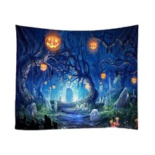 Pumpkin Halloween Tapestry Tree Castle Bat Print Wall Hanging Tapestry Art Home Decoration Wall Tapestry hot sale large adventure theme wall hanging tapestry home decoration wall tapestry tapiz pared 1750mm 1750mm