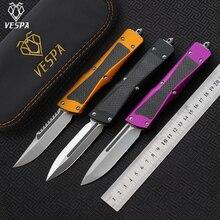 VESPA Knife Blade:S35VN(T/E,S/E)Satin,Handle:Aluminum+TC4+CF,Outdoor camping survival knives EDC tools