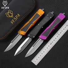 VESPA bıçak: S35VN (T/E, S/E) saten, kolu: alüminyum + TC4 + CF, açık kamp survival bıçaklar EDC araçları