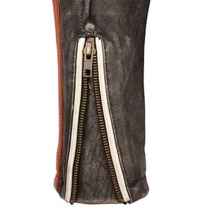 Image 5 - Мотоциклетная кожаная куртка с вышивкой черепов, винтажная Байкерская кожаная куртка из 100% натуральной воловьей кожи, зимняя мотоциклетная одежда M220