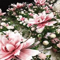 Artificial Large Foam Fake Flower Simulation Giant Magnolia Flower Head Wedding Background Design Mall Window Display