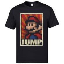 Retro Pacman cartel de Super Mario Vintage hombres de manga corta Camisetas 3D imprimir descuento juego camiseta para hombres Camisas Navidad