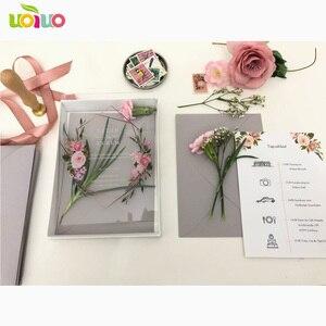 Image 5 - 10 sztuk przezroczysty akrylowy kartka z pudełko z nadrukiem niestandardowe akrylowe zaproszenie ślubne (inny przedmiot na zdjęciu wymaga dodatkowych kosztów)