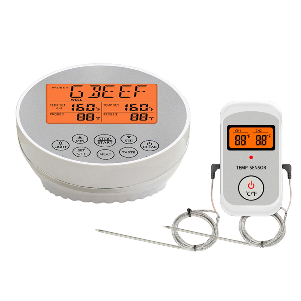 Digital Wireless Food Thermometer for Cooked Food and Grilled Meat with Timer and Temperature Alarm 4
