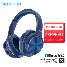 Mixcder E9 Pro Aptx Ll Hoofdtelefoon Draadloze Bluetooth Active Noise Cancelling Hoofdtelefoon Usb Snel Opladen Met Microfoon Blue Headsets