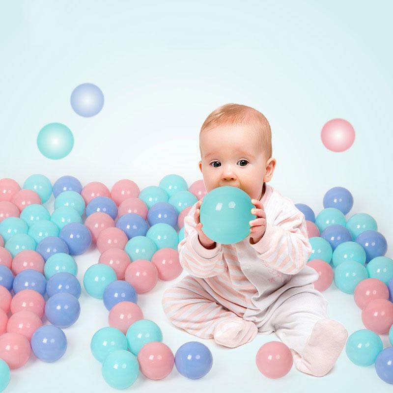 100 Pcs/pack Ocean Balls Colorful Balls Eco-Friendly Soft Plastic Ball Baby Kid Swim Pit Ballenbak Toy Water Pool Ball