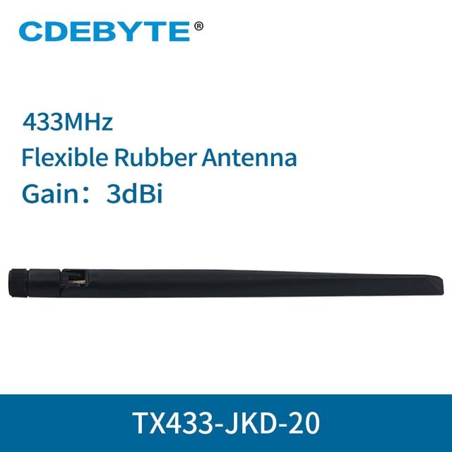 4 pc/lot 433MHz SMA J Flexible en caoutchouc Wifi antenne TX433 JKD 20 haut Gain 3.0dBi omnidirectionnel 4g antenne