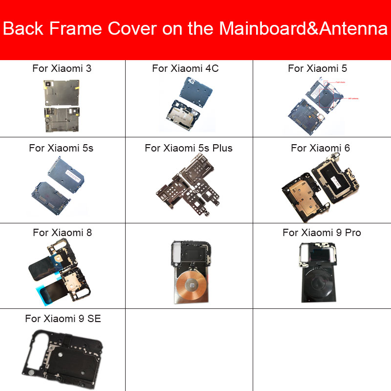 Antenna Chip Stickers Mainboard Cover For Xiaomi Mi 3 4C 5 5s 6 8 9 Pro Plus Rear Frame Cover On Antenna&Mainboard Case