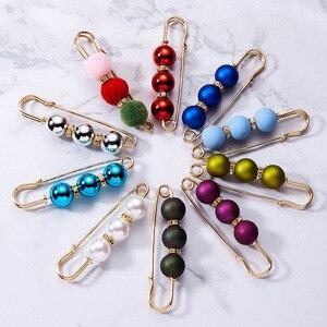 Image 5 - Strass robe à broches en perles colorées de décoration, broches de sécurité avec boucle, broches bijoux pour col de chemise, accessoires