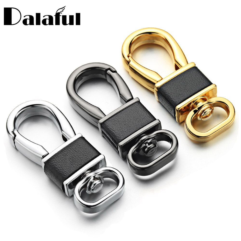 DIY Keychain Bag Chain Accessories All-match Keyrings High Quality Leather Key Chains Ring Holder Spring Buckle Wholesale K397