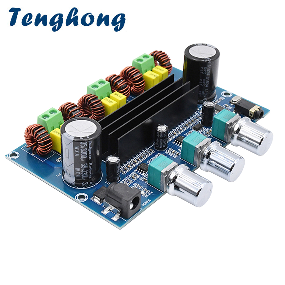 Tenghong TPA3116D2 <font><b>Bluetooth</b></font> 5.0 Digital Amplifier Board 50W*2+100W <font><b>2.1</b></font> Channel Stereo Power Audio Sound Amplificador Class D image