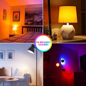 Image 4 - 15W 똑똑한 전구 Dimmable WiFi LED 램프 E27 색깔 변화 램프 RGB 마술 전구 110V 220V app는 Alexa Google assistant를 운영한다