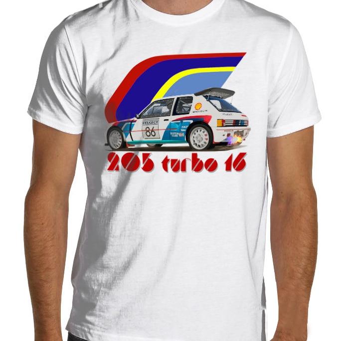 2019 New Fashion Cool Tee Shirt 1986 T16 French car fans 205 Turbo 16 E2 Group B T-Shirt Gti Rallye Rally  Custom T-shirt