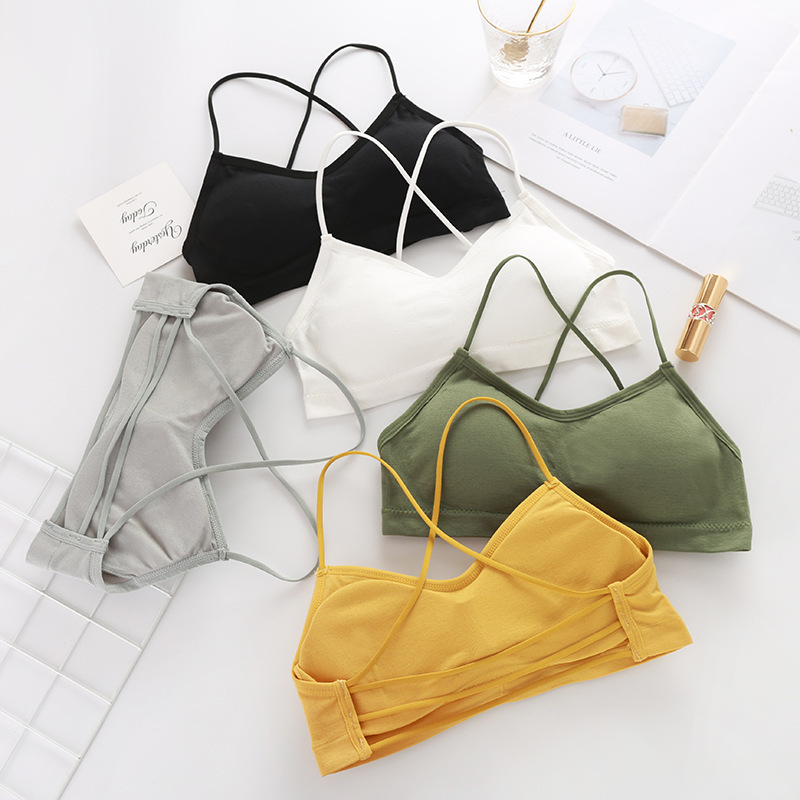 Women Sports Bras For Fitness Yoga Running Jogging Gym Wear Stretch One Size Padded Sport Top Seamless Athletic Vest Yoga Bra