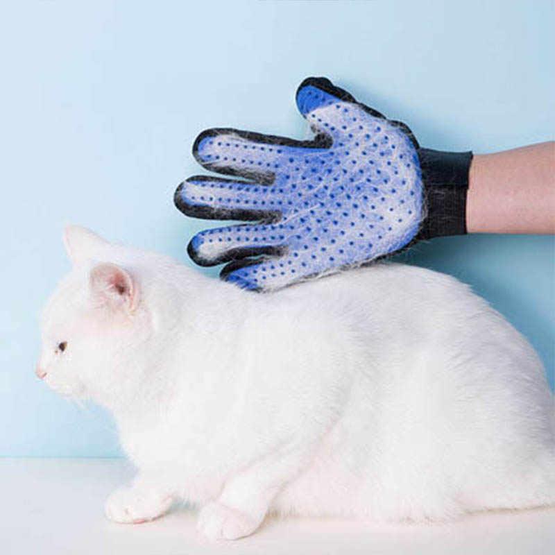 ซิลิโคนสุนัข Pet Grooming ถุงมือสำหรับแมวแปรงหวี Deshedding ถุงมือผมสุนัข Bath แมวสัตว์เลี้ยงสุนัขสัตว์หวี