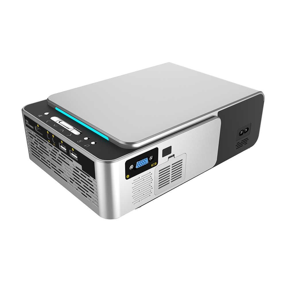 T6 Proiettore Full HD Led Mini Proiettore 3500 Lum HDMI USB 1080p Video Proiettore Wifi Android Portatile Home Theater projetor
