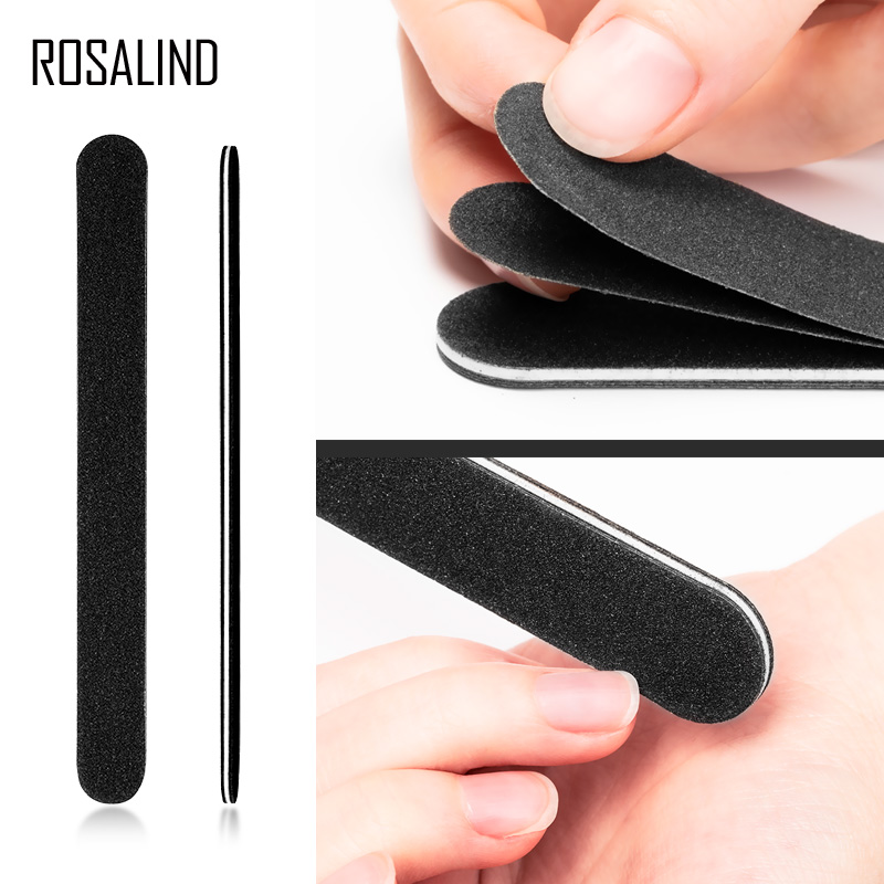 ROSALIND Tear Off Nail Files Polish Tools Grinding For Nails Salon Manicure Art Buffering 4 Strips Peel Off Pedicure Nail Care