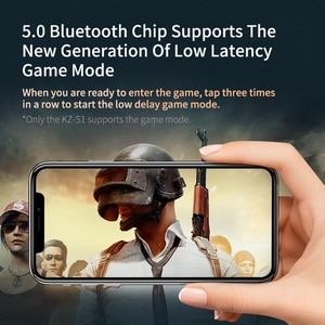 Image 5 - KZ S1D KZ S1 TWS bezprzewodowe słuchawki Bluetooth 5.0 sterowanie dotykowe dynamiczne słuchawki hybrydowy zestaw słuchawkowy z redukcją szumów Sport