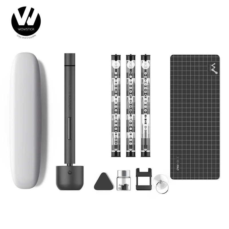 Original Youpin Wowstick 1F+ 64 In 1 Electric Screw Mi driver Cordless Lithium-ion Charge LED Power Screw driver kit(China)
