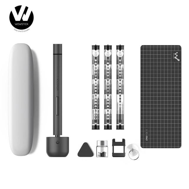 기존 Youpin Wowstick 1F + 64 In 1 전기 스크류 Mi 드라이버 무선 리튬 이온 충전 LED 전원 스크류 드라이버 키트