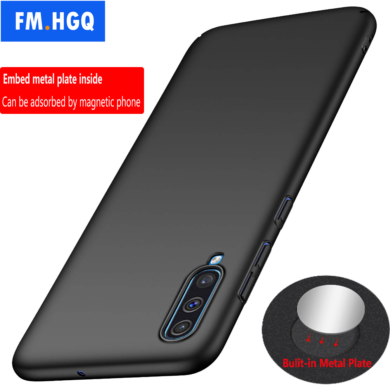 Magnetic Car Holder <font><b>Case</b></font> For <font><b>Samsung</b></font> <font><b>Galaxy</b></font> A70 A60 A50 <font><b>A40</b></font> Hard PC <font><b>Cover</b></font> for A30 20 A10 A40S Ultra-thin Breathable Scrub <font><b>Case</b></font> image
