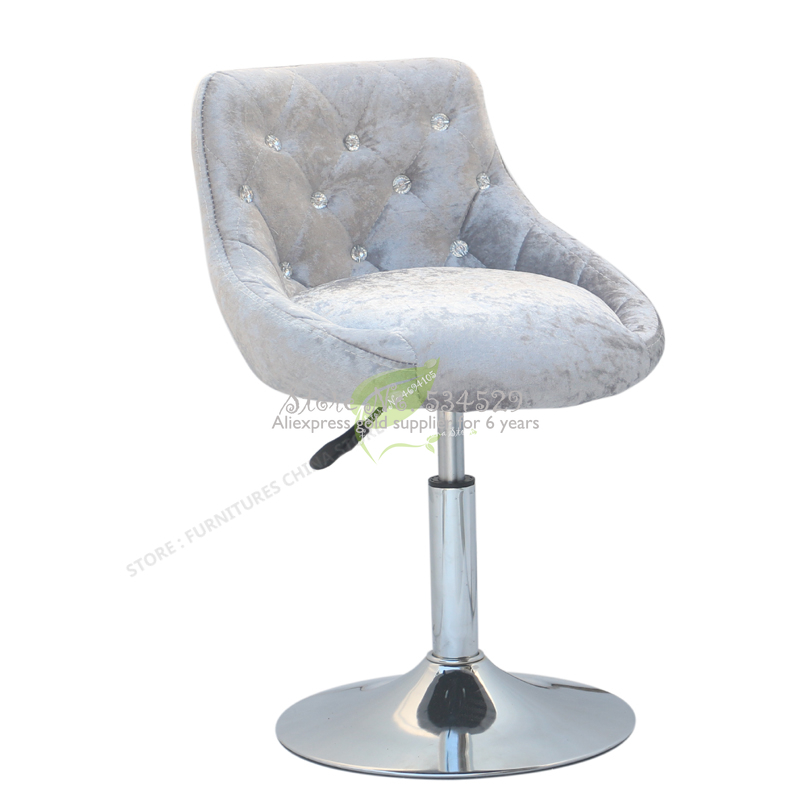 30%Modern Bar Stool   Tabouret De Bar  Furniture Make Up Chair Beauty Salon Furniture European Dotomy Style Simple Flannel