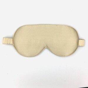 Image 5 - 100% reine Natürliche Seide Schlaf Maske Augenklappe Augenbinde Hohe Qualität 19 momme Großhandel