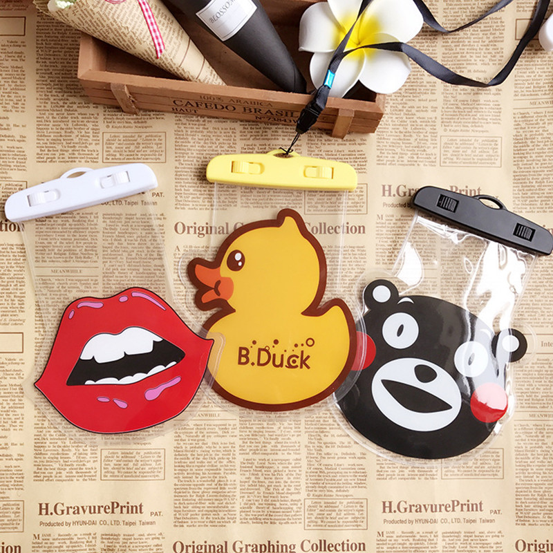 Cartoon Universal Waterproof Phone Case Unlock Floating Air Phone Cover Outdoor Diving Beach Water Pouch Waterproof Swimming Bag