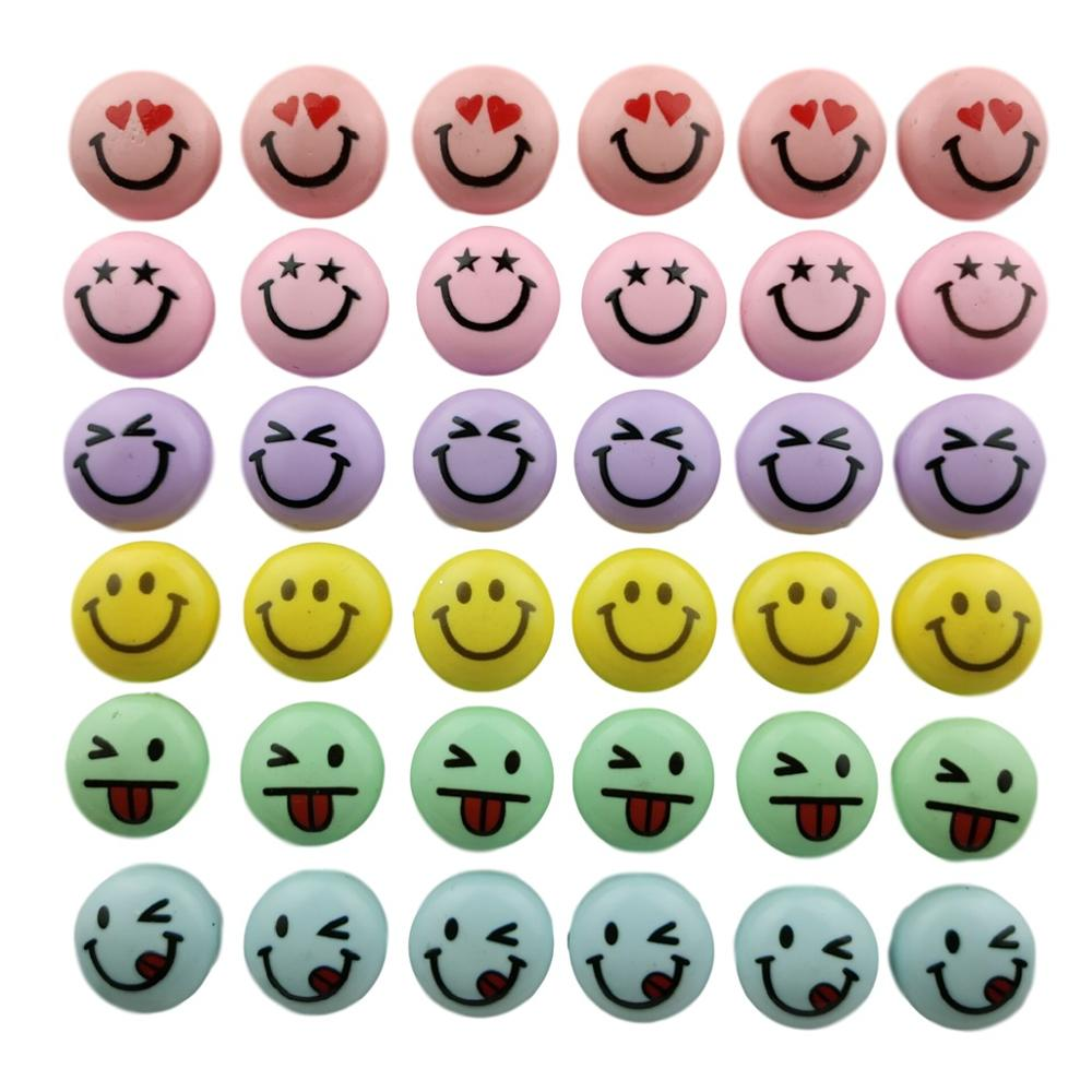 Resin Smiley Emoticons Office whiteboard refrigerator magnet strong neodymium fridge magnetic sticker set message photo decor