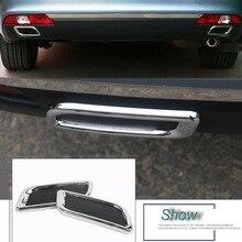 2 adet DIY araba Styling ABS krom arka tampon dekorasyon egzoz borusu kuyruk boğaz çıkartmalar Citroen C4 C5 Elysee aksesuarları