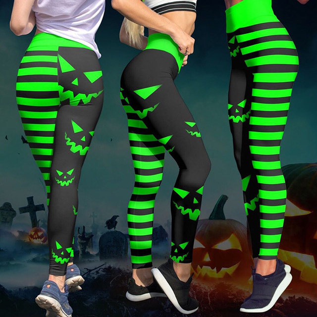8 Colors Womens Halloween Leggings Digital Print High Waist Pants Workout Push Up Leggins Mujer Knitted Sexy Christmas leggings
