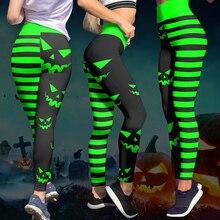 Mallas con impresiones digitales de Halloween para Mujer, pantalones de cintura alta, entrenamiento, Push Up, Leggings de punto, Sexy, para Navidad, 8 colores