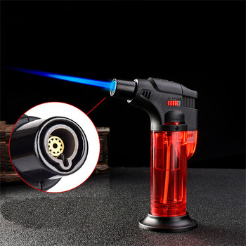 High-temperature Straight-through Personality Windproof Inflatable Welding Spray Gun Moxibustion Lighter Point Cigar Baking
