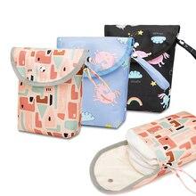 Мини-сумка для детских подгузников, водонепроницаемая многоразовая сумка для подгузников, переносная сумка для хранения для мам, сумка для кормления, сумки для детских подгузников для коляски