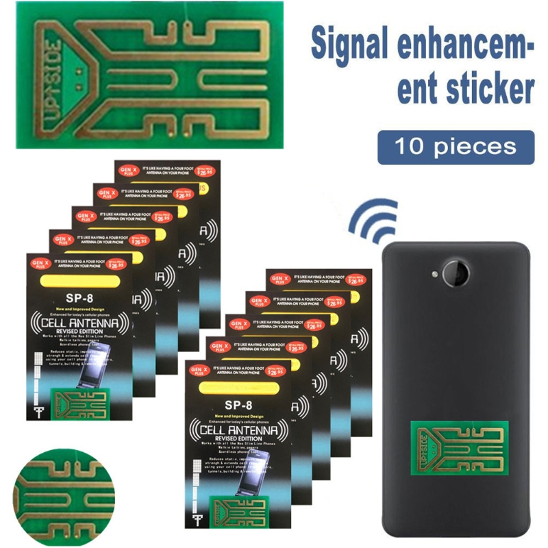 10 PCS 6/8/8 /Plus/9 generation Cellphone Phone Signal Enhancement Antenna Booster Improve Booster Stickers