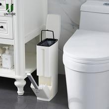 UNTIOR 6L Пластиковый Мусорный бак с туалетной щеткой мусорное ведро многофункциональные инструменты для уборки ванной комнаты