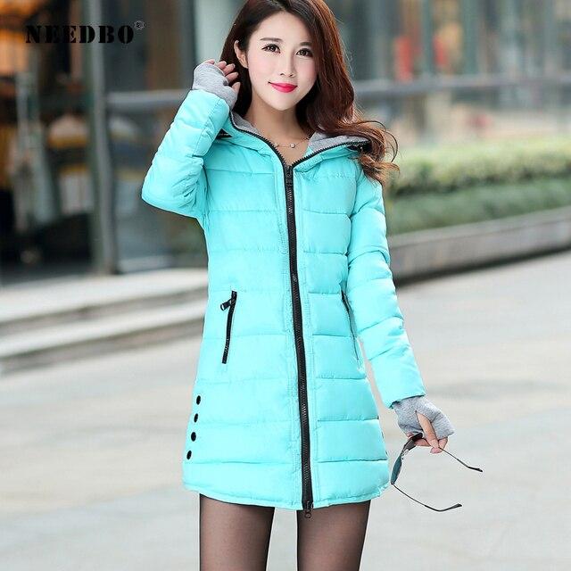 NEEDBO Long Winter Jacket Women Parka Pultra Light Coat Winter Hooded Oversize Winter Autumn Warm Puffer jacket Coat Lady Jacket 5