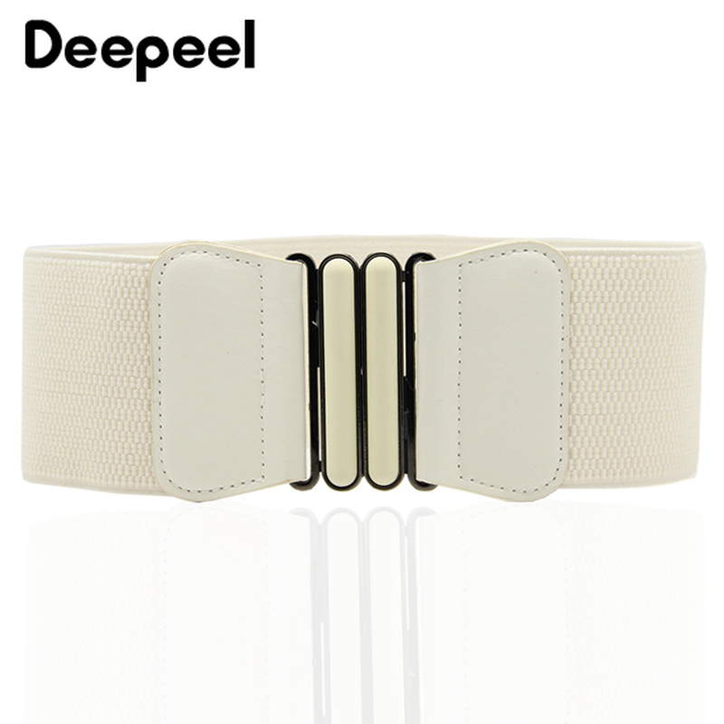 Deepeel 1pc 7.5cm*65cm Fashion Simple Elastic Belts For Women Cummerbunds Stretch Band Coat Belt Decoration Accessories CB046