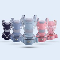 0 48M Ergonomic Baby Carrier Infant Baby Hipseat Carrier Front Facing Ergonomic Kangaroo Baby Wrap Sling for Baby Travel