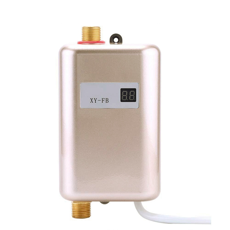 Top Deals 3800W Mini Electric Water Heater Instant Electric Water Heater Instant Electric Water Heating Shower 3 Seconds Hot EU