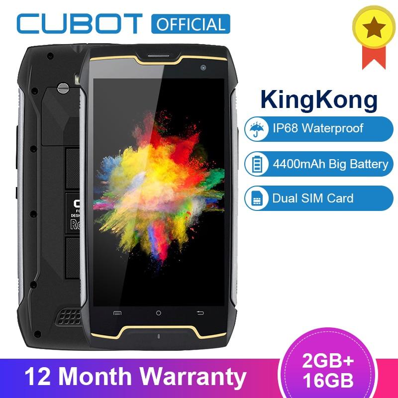 Original Cubot KingKong IP68 Waterproof Smartphone Dustproof Shockproof Cellular MT6580 Quad Core 5.0 Inch HD 2GB 16GB 4400mAh(China)