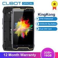 Originale Cubot Kingkong IP68 Smartphone Impermeabile Shockproof Antipolvere Cellulare MT6580 Quad Core da 5.0 Pollici Hd 2 Gb 16 Gb 4400 mah