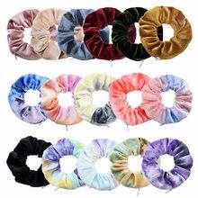 1 pçs criativo veludo zíper scrunchie coreano bolso carteira elástico cabelo bandas de borracha para as mulheres estilo ferramenta acessórios para o cabelo