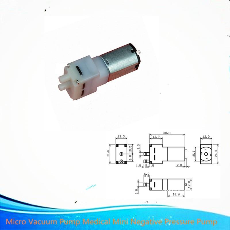 ISmaring 1pcs Micro Vacuum Pump Medical Mini Negative Pressure Pump DC Pressure Small Air Pump DC3.7V