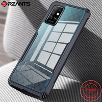 Rzants Voor Infinix Note 8 Hard Soft Behuizing [Bv Kever] Hybrid Shockproof Slim Crystal Clear Cover