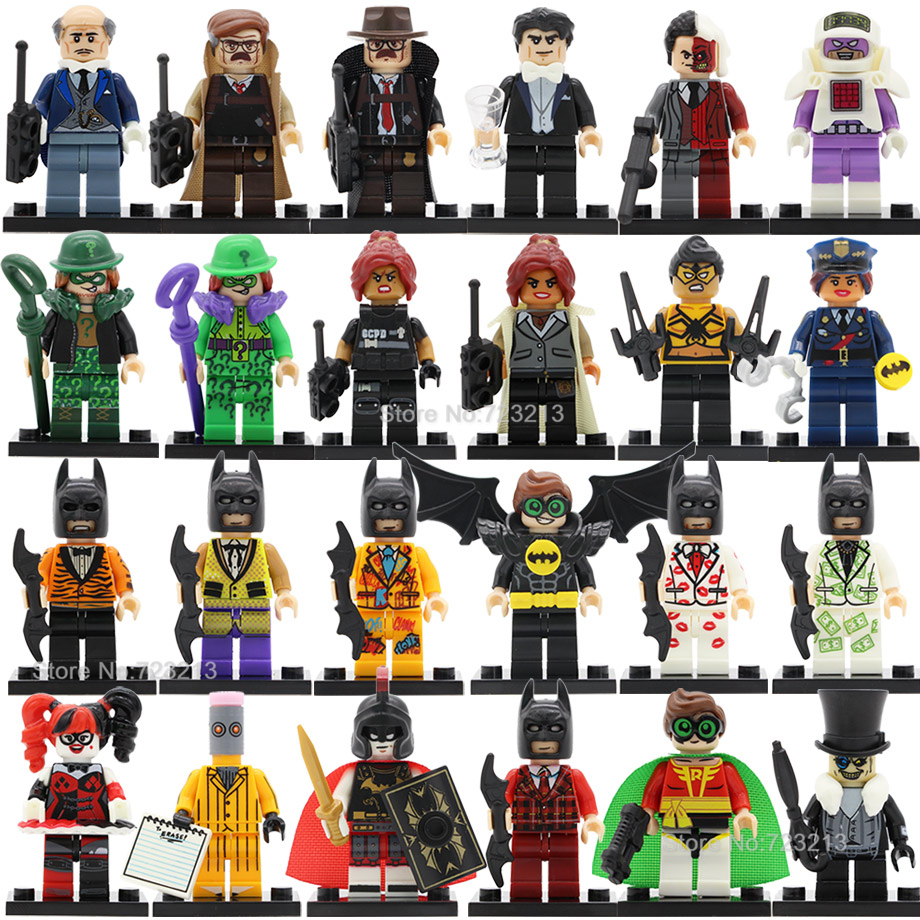 Single Roma Batman Super Hero Figure Police Barbara Bruce Wayne Robin Penguin Tarantula Riddler Building Blocks Toys Legoing