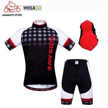 WOSAWE Motorcycle Cycling Suit Jersey Short Cycling Jerseys Kit Bike Clothes Clothing Sportswear Racing Bike Cycling Clothes недорого