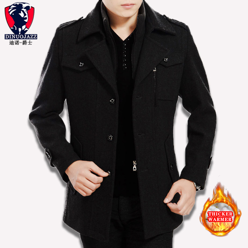 2019 New Men's Coat Wool Overcoat Winter Coat Men Cashmere Male Winter Thickening Long Keep Warm Coat