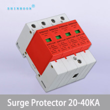 ac Power surge protection device AC SPD 3P+N 20KA~40KA 385V House Power Surge Protector Protective Low-voltage Arrester Device 2p surge protective device dc photovoltaic lightning protector low voltage arrester