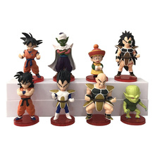 8pcs/set Anime Dragon Ball Z Saiyan Son Goku Vegeta Piccolo Raditz Nappa PVC Action Figure Cartoon vol.1 DBZ Figures Model Toys